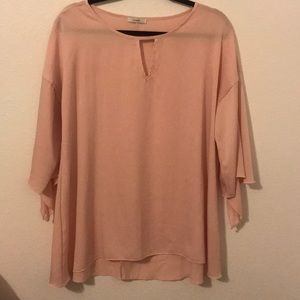 Boutique pink bell sleeve tunic